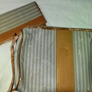 Fendi Bags - Vintage Tan Fendi crossbody and checkbook cover